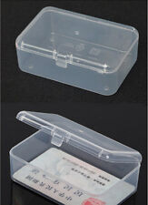 New Small Transparent Plastic Storage Box clear Square Multipurpose display