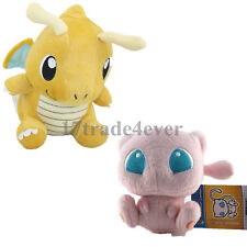 "New Pokemon Center 6"" Dragonite & 5"" Pink Mew Soft Plush Doll Adorable Doll 2pcs"