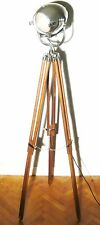 VINTAGE FILM STUDIO LIGHT ART DECO ANTIQUE MOVIE STAGE LAMP STRAND 123 TRIPOD