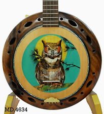 Antonio-Girls Oil Painting&Inlay Acacia Koa 5 String Banjo Handmade-Bag MD4634