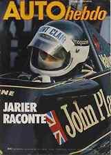 AUTO HEBDO n°135 du 19 Octobre 1978 JARIER RACONTE BRANDS HATCH USAC SAN REMO