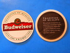 Beer Coaster ~*~ 1996 BUDWEISER Brewery ~*~ Tradition of Quality ~ Tegistology