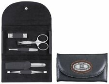 """Zwilling Twinox Manicure Set """"Chopper"""",5 pcs in the black Leather case 97404-004"""