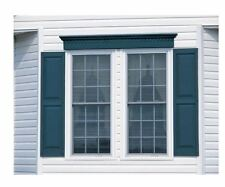 "home exterior window decor shutters wood shutter panel set 15"" X 55"" black new"