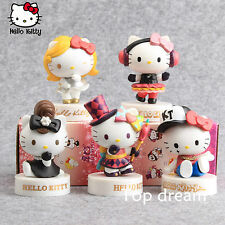 5pcs Cute Hello Kitty 40th Anniversary Action Figures PVC Toy Doll 8cm In Boxed