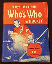HENDY'S - 1950 - OFFICIAL - WHO'S WHO IN HOCKEY - SID ABEL ON COVER - ORIGINAL