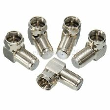New 5PCs 90 Degree F Male To F Female Connector Adapter Coaxial Cable RG6 RG59