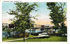 CRESCENT PARK, WARREN, PA. PENNSYLVANIA. TOWN VIEW. CLARENDON, PA. CANCEL