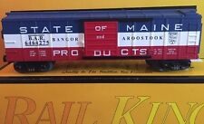 Rail King Electric Trains State Of Maine Box Car
