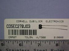 20 Cornell Dubilier CD5EC270JO3 27pF 300V 5% Dipped Silver Mica Capacitors
