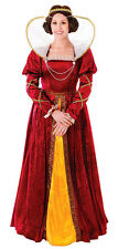 LADIES RED MEDIEVAL TUDOR QUEEN LADY CHRISTMAS COSTUME GOWN OUTFIT NEW 14-16 XL