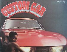 Custom Car magazine 07/1977 featuring Datsun 260Z, Jaguar, Mercedes