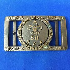 Boy Scout  National Jamboree Colorado Springs 50 BSA Two Piece Belt Buckle