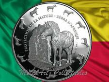 2015 Benin Zebra Protection de la Nature 1 oz 0.999 Silver Coin