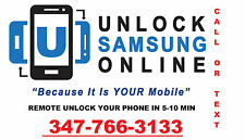 INSTANT REMOTE UNLOCK FOR SAMSUNG GALAXY NOTE 4 N910T/A 5.1.1 / S5 G900T/A 6.0.1
