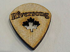 RIVERSONG WOODEN GUITAR PICKS 2.0MM JAZZ SOLID MAPLE MADE IN CANADA 4 PICK PACK