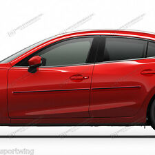 For: MAZDA3 Painted Body Side Mouldings Moldings with Black Insert 2010-2016