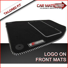 AUDI A4 Cabriolet S LINE 01-09 Tailored Velour Car Mats/Silver Trim with Logos