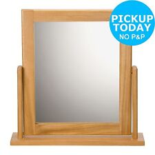 HOME Square Dressing Table Mirror - Oak Effect -From the Argos Shop on ebay