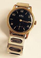 Rare goldene Vintage Handaufzug-Uhr BWC Swiss, 60er Jahre, Sekundenzeiger