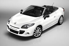 Renault Megane 3 CC Cabrio. GLOSS BLACK FRONT&REAR BADGE COVER'S- SET