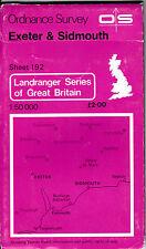 Ordnance Survey Landranger Map Sheet 192 Exeter & Sidmouth Exmouth 1974 UK OS