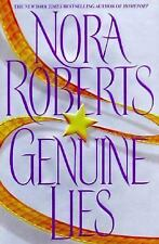 Genuine Lies by Nora Roberts (1998, Hardcover)