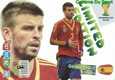 LIMITED GERARD PIQUE # SPAIN ESPANA PANINI CARD ADRENALYN WORLD CUP BRAZIL 2014