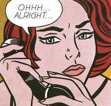 Ohhh...Alright... 1964 by Roy Lichtenstein Comic Woman Phone Print Poster
