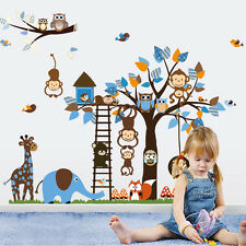 Large Creative Monkey Tree Wall Sticker Decals Kids Home Bedroom Nursery Decor
