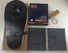 Filtro set filtro aceite mahle + filtro de aire 2 x filtro de carbón activado bmw 5er f10 520-535d