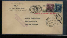 US  interesting  perfin  stamps on cover   1933    MS1013