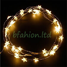 30 Star LED Battery Operated Indoor String Lights for Wedding Party Christmas