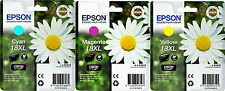 Set 3 cartucce EPSON 18XL 18 XL C - M - Y  Originale  T1812  T1813  T1814   2015