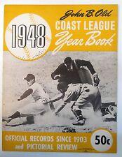 1948 John B. Olds' COAST LEAGUE YEAR BOOK PCL Pacific Coast League baseball
