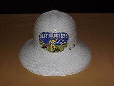 VINTAGE TOY WESTERN  PIONEER 1950-60S DAVY CROCKETT STRAW SAFARI HAT