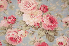 4 DRAPES English  Rose Pink & Blush Buttermilk Blue  ONE SET ONLY THIS PRICE