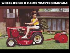WHEEL HORSE B C & 200 TRACTOR MANUALS -100pgs for 208 211 212 Service & Repair