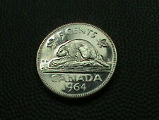CANADA    5  cents   1964     PROOF   ,   BEAVER