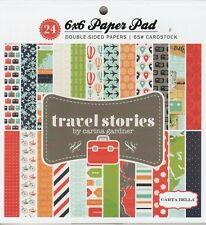 Carta Bella TRAVEL STORIES 6x6 Paper Pad Scrapbook 24 sheets Planner Vacation