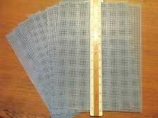 """LOT OF 18 Quick Count 7 Mesh 13.5""""x10.5"""" Blank BLUE Plastic Canvas Sheets"""