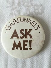 GENUINE GARFUNKELS RESTAURANT STAFF PIN BADGE FROM 1980s. From 99p.