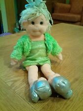 "14"" glitzy gabby doll in green dress and jacket"