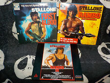 Rambo Trilogy First Blood Part II III Laserdisc Sylvester Stallone Free Ship $30