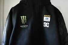 DC Ken Block Subaru Rally Teamworks Monster Bomber Jacket Hoodie NEW Size Large