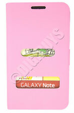 Pink Folio Side Opening PU case Wallet for Samsung Galaxy Note N7000 i9220 UK