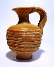 PICHET A ANSE ROMAIN EN TERRE CUITE - 200/100 BC - ROMAN TERRACOTTA JUGLET