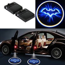 2x Wireless Logo 3D Batman Car Door LED Welcome Projector Ghost Shadow Light New
