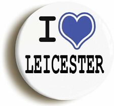 I HEART LOVE LEICESTER BADGE BUTTON PIN (1inch/25mm diameter) THE FOXES