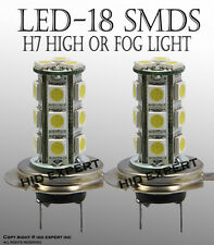JDM H7 18 SMDs LED Super White x2pcs High Beam Light Bulbs Same Day DeliverJ6935